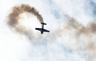 Photograph - Extra 300 Aerobatic Plane And Smoke Trail by Chris Day