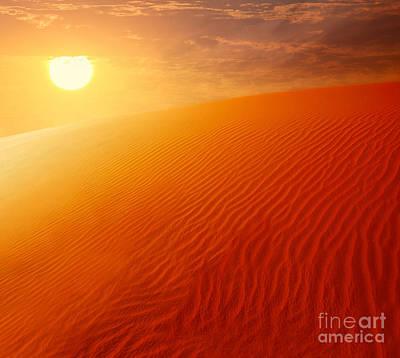 Extreme Desert Land Art Print by Anna Om