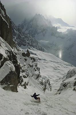 Extreme Skier Jean Franck Charlet Print by Gordon Wiltsie