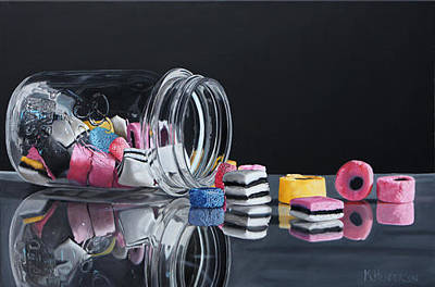 Licorice Painting - Eye Candy By K Henderson by K Henderson