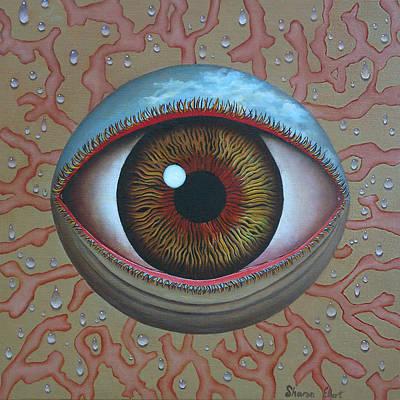Eye Dew Print by Sharon Ebert