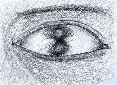 Eye Eight Study Number One Art Print by Michael Morgan