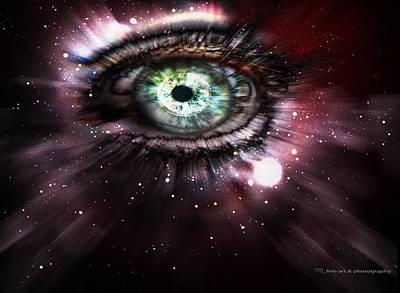 Deep Space Art Mixed Media - Eye From The Stars by Yvon van der Wijk