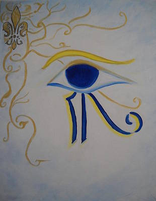 Horus Painting - Eye Of Horus Nola Style by Marian Hebert