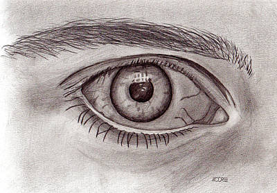 Drawing - Eye by Pat Moore