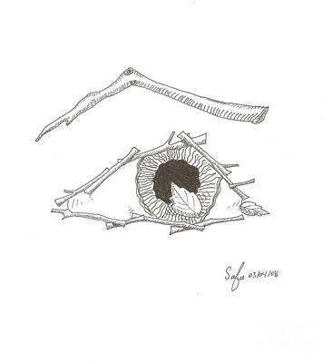 eye Art Print by Safa Al-Rubaye