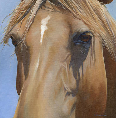 Morgan Horse Painting - Eye Shadows by Alecia Underhill