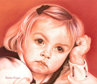 Drawing - Eyes Of A Little Girl by Natasha Denger