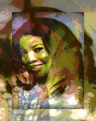 Meaningful Mixed Media - Eyes Of Nigeria - Mona Lisa by Fania Simon
