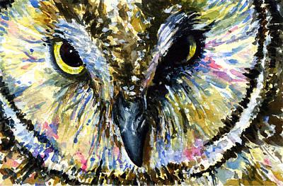 Painting - Eyes Of Owl's 13 by John D Benson