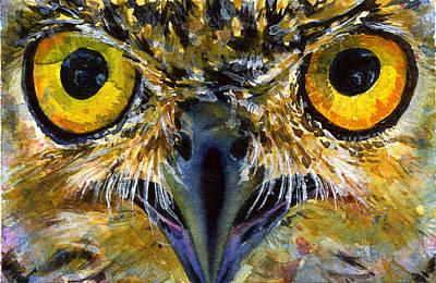Painting - Eyes Of Owl's 18 by John D Benson