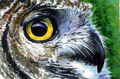 Painting - Eyes Of Owl's 19 by John D Benson