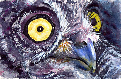 Painting - Eyes Of Owl's 21 by John D Benson
