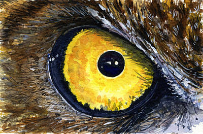 Painting - Eyes Of Owl's 3 by John D Benson