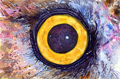 Painting - Eyes Of Owl's 4 by John D Benson