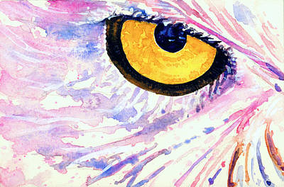 Painting - Eyes Of Owl's 5 by John D Benson