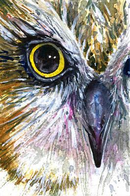 Painting - Eyes Of Owl's 8 by John D Benson