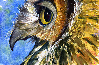 Painting - Eyes Of Owl's 9 by John D Benson