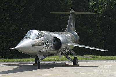 F-104g Starfighter Of The German Air Art Print by Timm Ziegenthaler