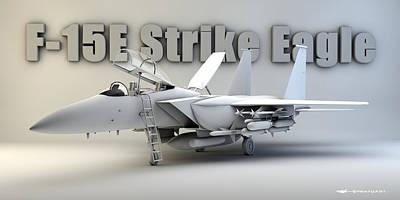 F-15e Strike Eagle Art Print by Dale Jackson