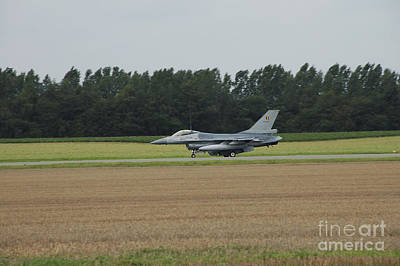 F-16 Of The Belgian Air Force Ready Art Print by Luc De Jaeger
