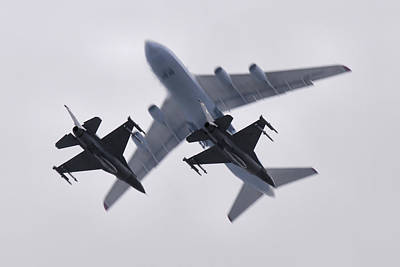Photograph - F-16's And Antonov An-124  by Tim Beach