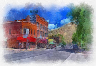 Digital Art - F And S Salida Watercolor by Charles Muhle