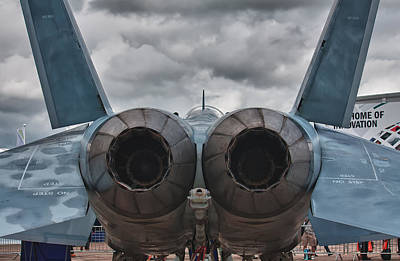 F15e Wall Art - Photograph - F18 Super Hornet Tail Pipes by Shirley Mitchell