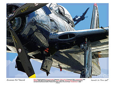 F8-f Bearcat Art Print by Kenneth De Tore
