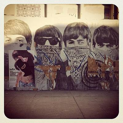 Icon Photograph - Fab4 #city #graffiti #beatles #icon #art by Chris Call