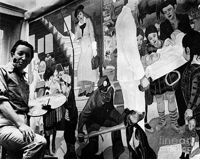 Photograph - Faber: Mural Painting, C1940 by Granger