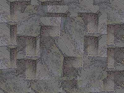 Digital Art - Facade 5 by Tim Allen