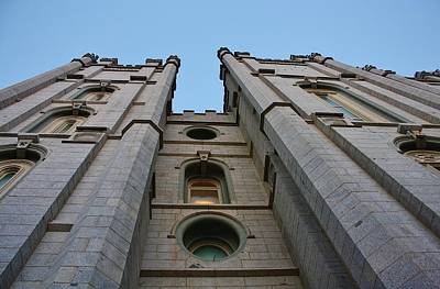 Photograph - Facade Of Slc Temple by Bruce Bley