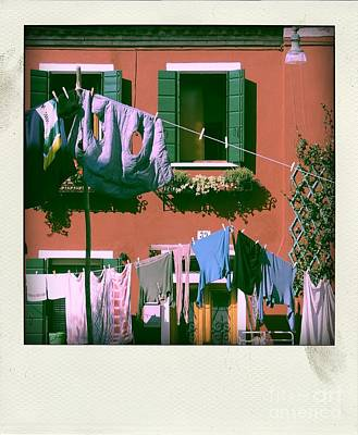 Facades Of Burano. Venice Art Print by Bernard Jaubert