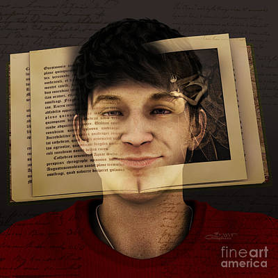 Digital Art - Face Book by Jutta Maria Pusl