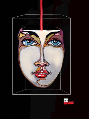 Face In A Box Art Print
