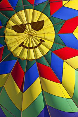 Photograph - Face Inside Hot Air Balloon  by Garry Gay