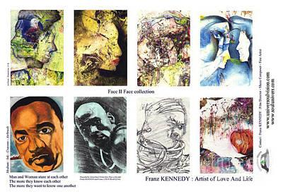 Micheal Digital Art - Face Memory I  by Kennedy Franz