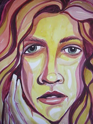 Painting - Face Of A Girl by Aleksandra Buha