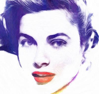 Grace Kelly Wall Art - Pastel - Face Of Beauty by Steve K