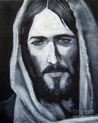 Painting - Face Of Christ - One by Larry Cole