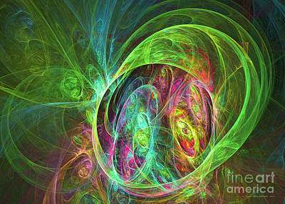 Digital Art - Face Of Energy by Sipo Liimatainen