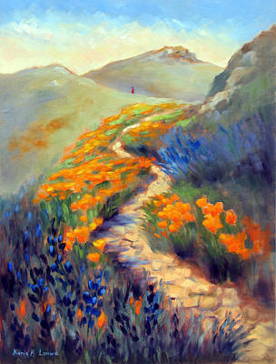 Iconic Painting - Face Of Soberanes Canyon by Karin  Leonard