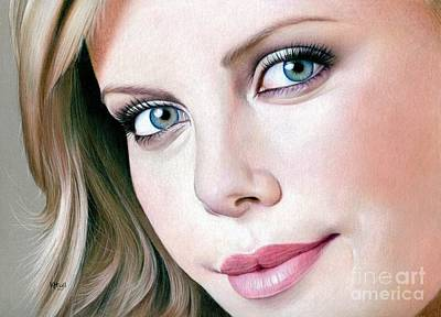 Charlize Wall Art - Drawing - Face Of Symmetry by Karen Hull