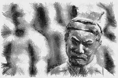 Photograph - Face Of The Terracotta - Sketch by Nicholas Evans