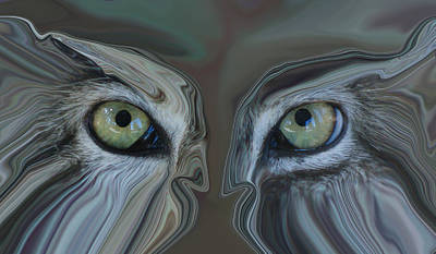 Abstract Creations Photograph - Face Off by Ernie Echols