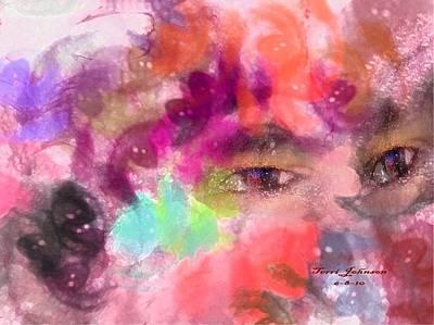 Face Art Print by Terri Johnson