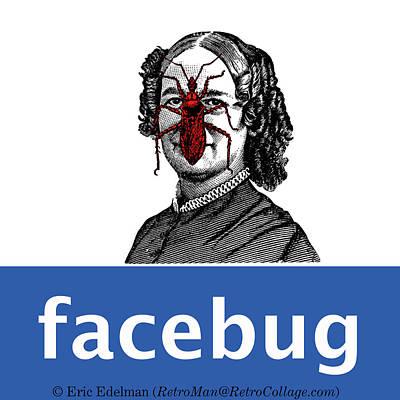 Digital Art - Facebug For Women by Eric Edelman