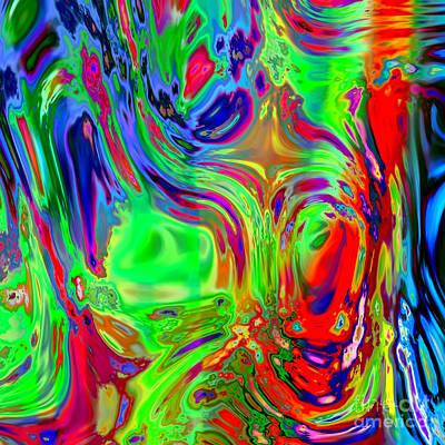 Faces Digital Painting Art Print by Heinz G Mielke
