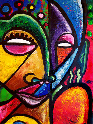 Faces Art Print by Kevin McDowell